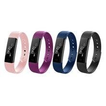 ID115 умный Браслет фитнес-трекер шаг счетчик монитор активности группа будильник вибрации браслет для IPhone Xiaomi Huawei