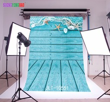 цены SHENGYONGBAO Art Cloth Custom Fishing nets Photography Backdrops Prop Conch Sailboat Photo Studio Background  JLT-10551