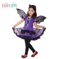 Fancy Masquerade Party Girl Bat Kostiumy Cosplay Halloween Party Zabawa Odzież Taniec Sukienka dla Nastoletnich Dzieci Piękne Sukienki