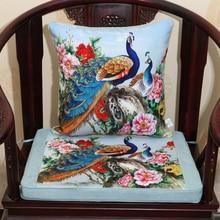 Thicken Flower Bird Cushion Seat Pad Sofa Chair Pillow Luxury Christmas Decorative Lumbar Armchair Mat
