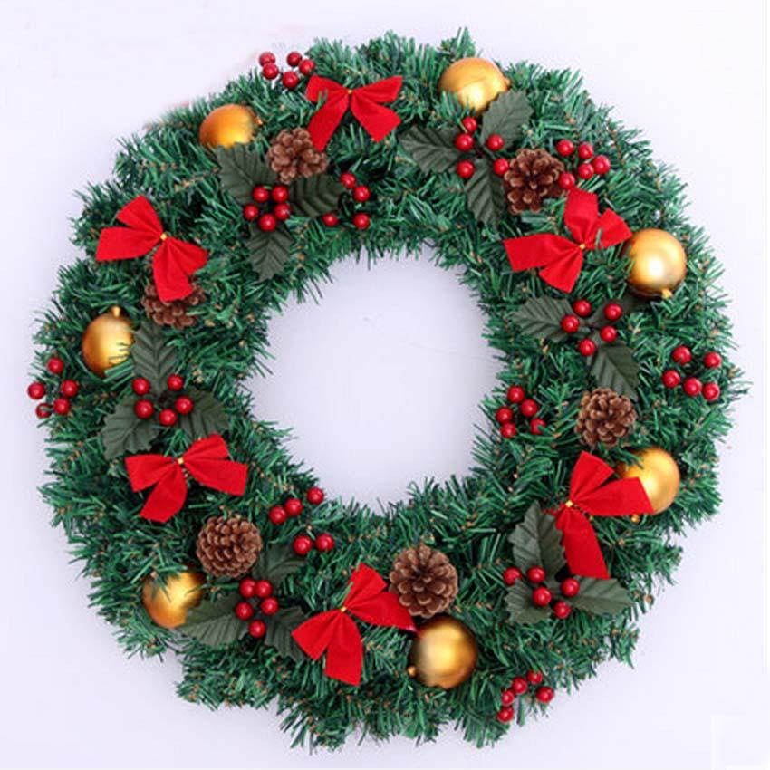 2015 decoracin de navidad guirnaldas 50 cm con arcos y rojo cereza y bola de navidad