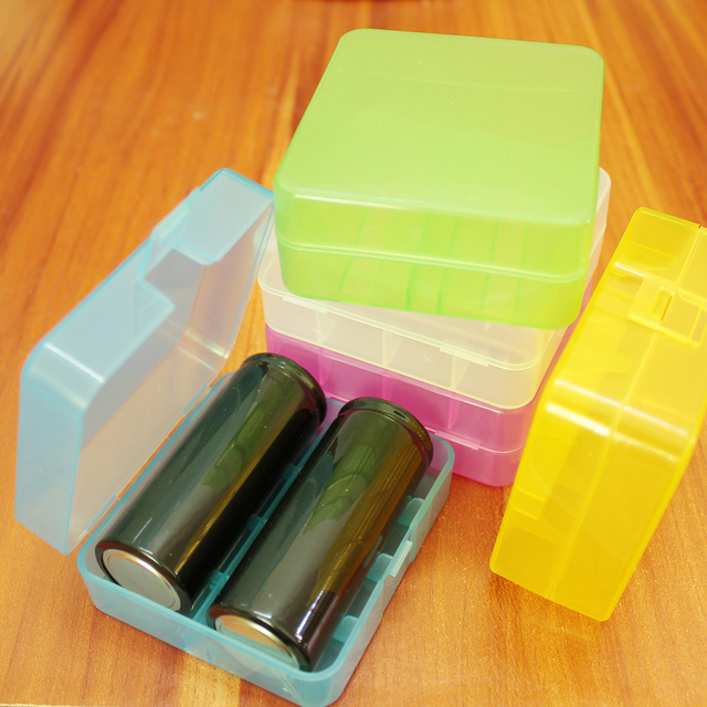 best loved 901de 249b2 US $0.65 |Lithium battery storage box 26650 26500 Battery box Lithium  battery storage special storage box Component finishing small box-in  Battery ...
