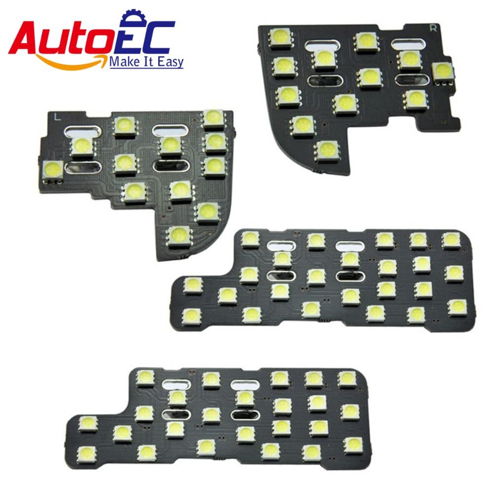 AutoEC 4pcs/set 12V LED Dome Interior Dome Map Reading Light Mirror LED Lights Kit Package Car LED For Honda CRV 2007 #LDK32 15pc x 100% canbus led lamp interior map dome reading light kit package for audi a4 s4 b8 saloon sedan only 2009 2015