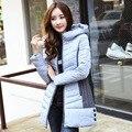 Ropa de maternidad abrigo de Maternidad Abajo 2015 nuevo invierno con capucha de down acolchado versión Coreana costura larga sección de Maternidad Tops