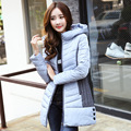 maternity clothes Maternity Down coat 2015 winter new hooded down padded Korean version stitching long section Maternity Tops