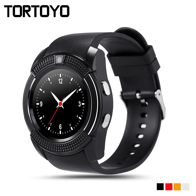 V8 Bluetooth font b Smart b font Watch Sports Wristwatch Support Sim TF Card Remote Camera