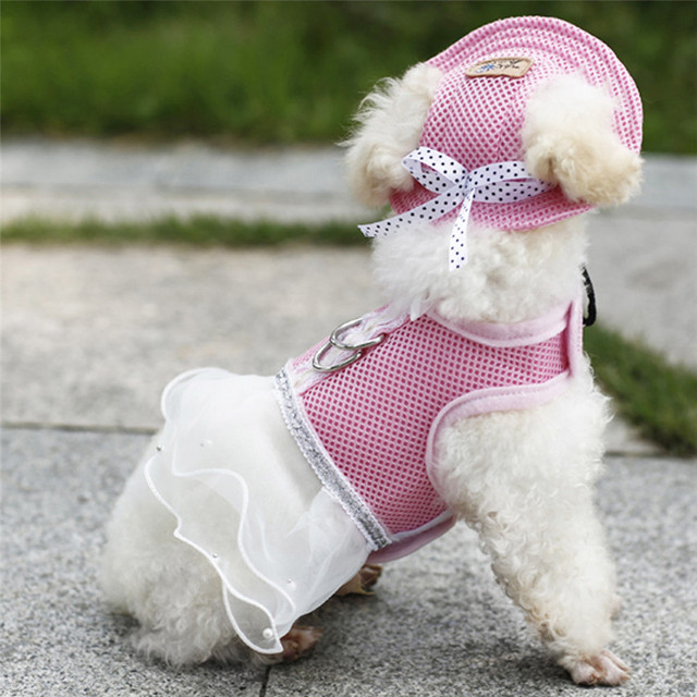 8d90f37ed2408 TAILUP Pequeña Princesa Sombrero Visera Gorra de Lona Del Perro de Mascota  de Verano Cachorro Sombrero