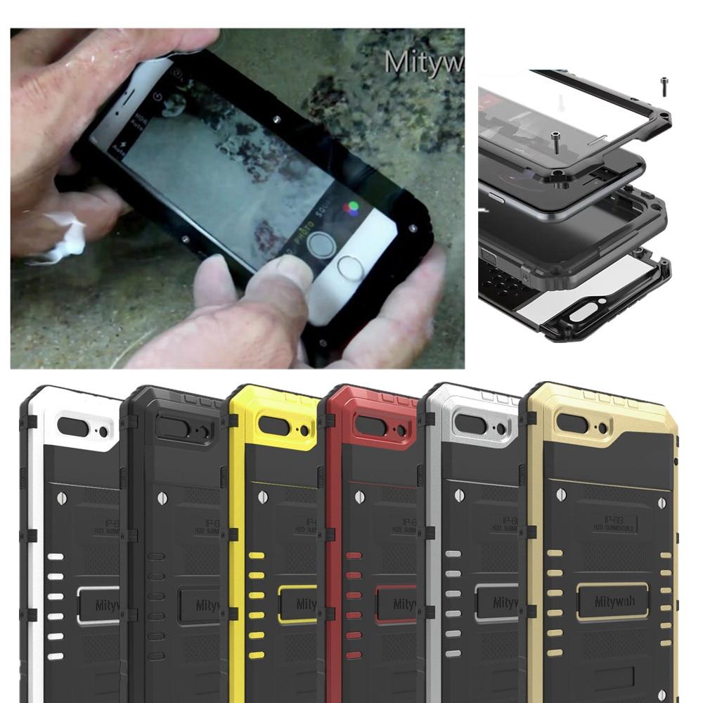 bilder für IP68 100% Wasserdichte Metall Aluminium Rüstung Hard Case Für iPhone 7/iphone 7 Plus Unterwasser 3 Mt Tauchen Abdeckung Stoßfest fällen