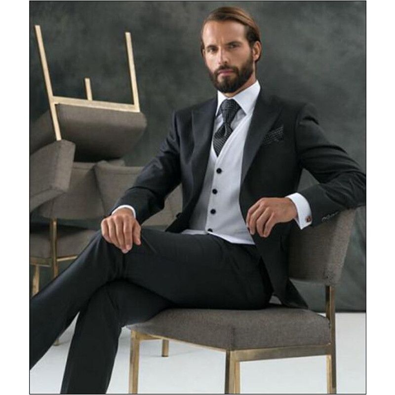 Classic Direct Selling Real Flat One Button Groom Suits For Wedding New The Best Man For Mens Business Party Tuxedos