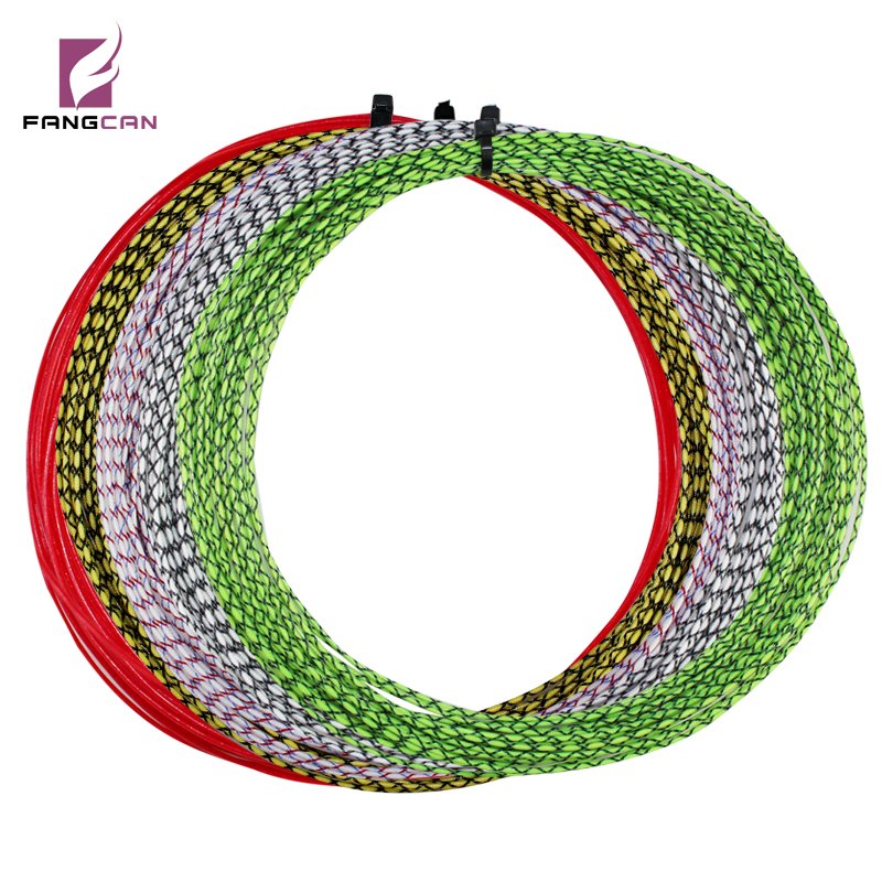 5 st FANGCAN Högkvalitativ Squash String Grade A Nylon Racket String med Cross Color 10m