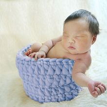 Handcraft Acrylic mini basket 8 colors Available Newborn Photography Props