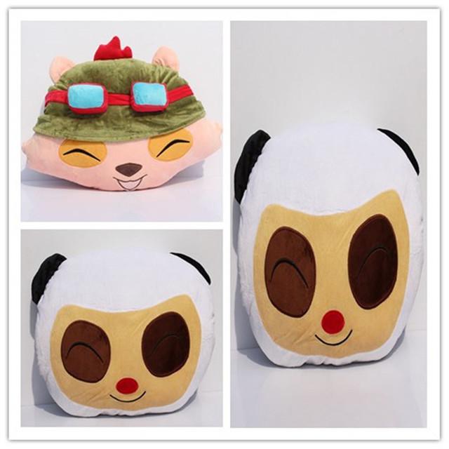 2 Estilo Lindo Panda Teemo Almohada de Peluche de Juguete Suave Peluche de la Muñeca Envío Gratis