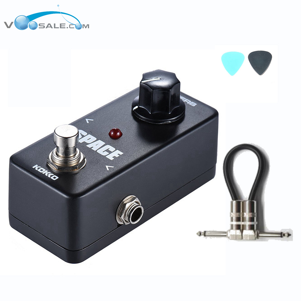 KOKKO FRB2 Mini Space Pedal Portable Guitar Effect Pedal High Quality Guitar Parts & Accessories + Free Cable kokko fbs2 mini guitar effect pedal guitarra booster high power tube electric guitar two segment eq effect device parts