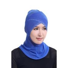 Mulheres da moda Cachecol Hijabs Islâmicos Pescoço Capa Bonnet Capa Completa Cap Senhora Headwear Muçulmano Para a Quimio Hijab Interior