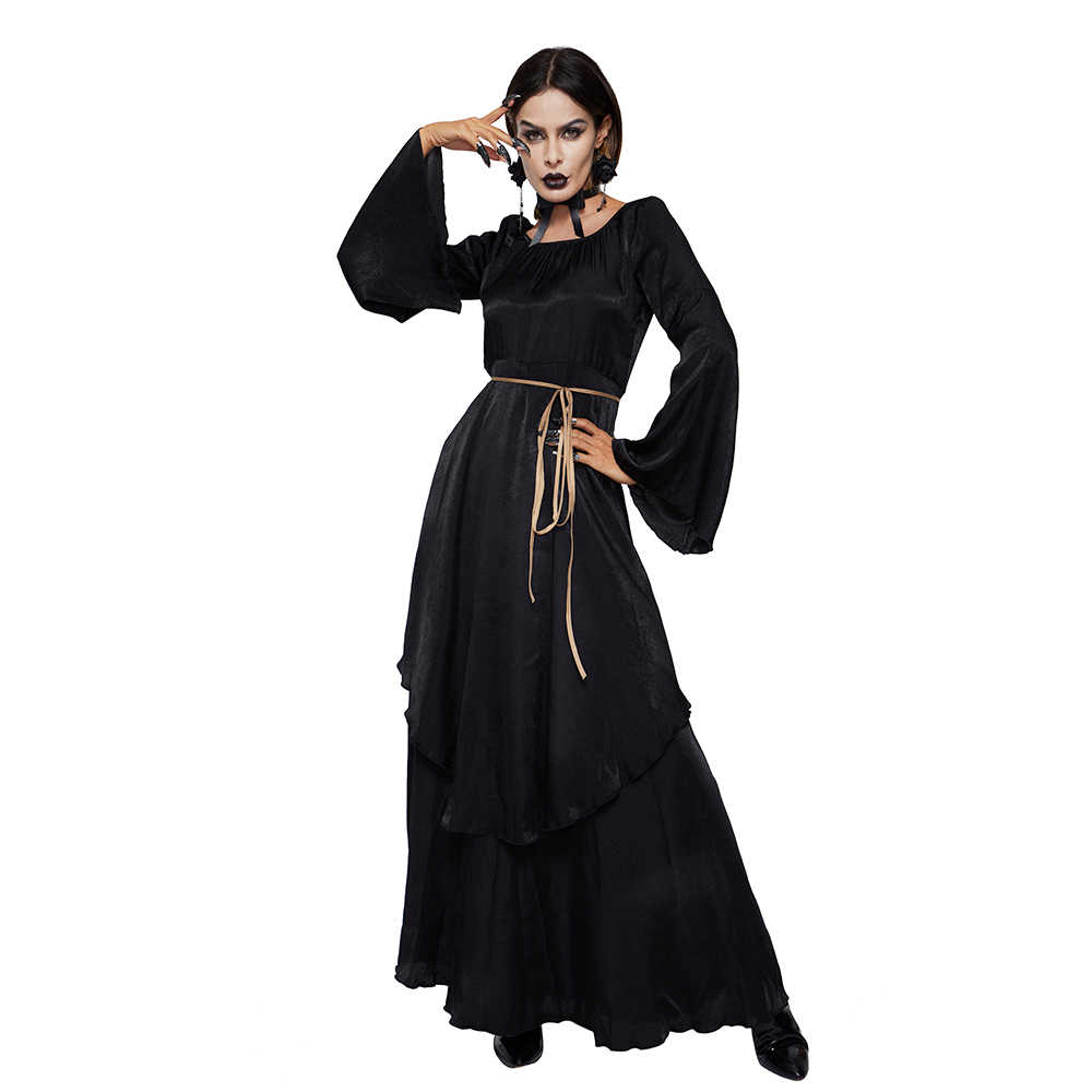 c11d40ae8c98a Vintage Maxi Dress Women White Lace Up High Waist Goth Retro Elegant Spring  Ladies Party Evening Floor Length Black Long Dresses