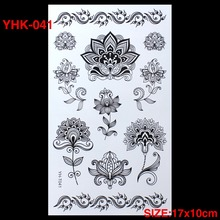 Hot Flashes Temporary Tattoos The ROSE Colored TATTOO 3D Dazzle Colour Waterproof Body Art Tatto Scar DIY Temporary Tatoo