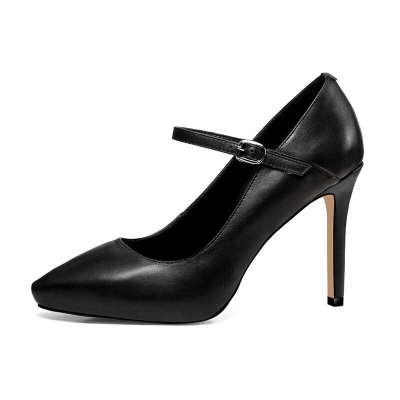 Zapatos Oficina Del Alto Pie Correa Tacón Primavera Mujer Plataforma Puntiagudo Wetkiss De Mujeres Negro Calzado Las Cuero Tobillo Dedo gray Moda qTq6XwO