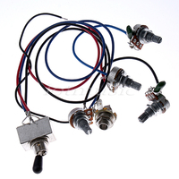 10 Wiring Harness Toggle Pickup Selector 3WBT 2V 2T 1J 500K Pots For Electric Guitar Replacement