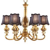 Люстра медная гостиная лампа атмосфера пасторальный ресторан лампа спальня лампа