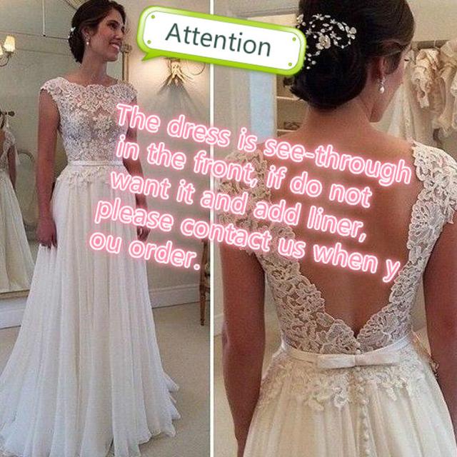 Line Wedding Dresses Vestido de Noiva Casamento Chiffon Lace