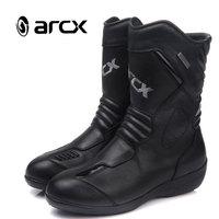 ARCX Black Cowhide Leather Women Motorcycle Boots Fashion Ladies Motorcycle Boots Motorcycle Boots Women Size 36 39 L60608