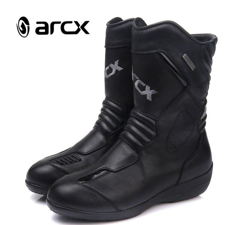 ARCX Schwarz Rindsleder Leder Frauen Motorrad Stiefel Mode Damen Motorrad Stiefel Motorrad Stiefel Frauen Größe 36-39 L60608
