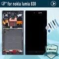 100% Гарантия Для Nokia lumia 830 ЖК-дисплей + сенсорный экран с Рамкой Полный комплект + Инструменты