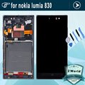 100% Guarantee For Nokia lumia 830 LCD display + touch screen with Frame Full Complete + Tools