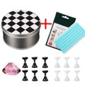 Nail Art Tools Chess Board Magnetic Nail Tip Crystal Stand Set+Tack-It Adhesive Glue Clay Stick For Manicure Tips Decoration