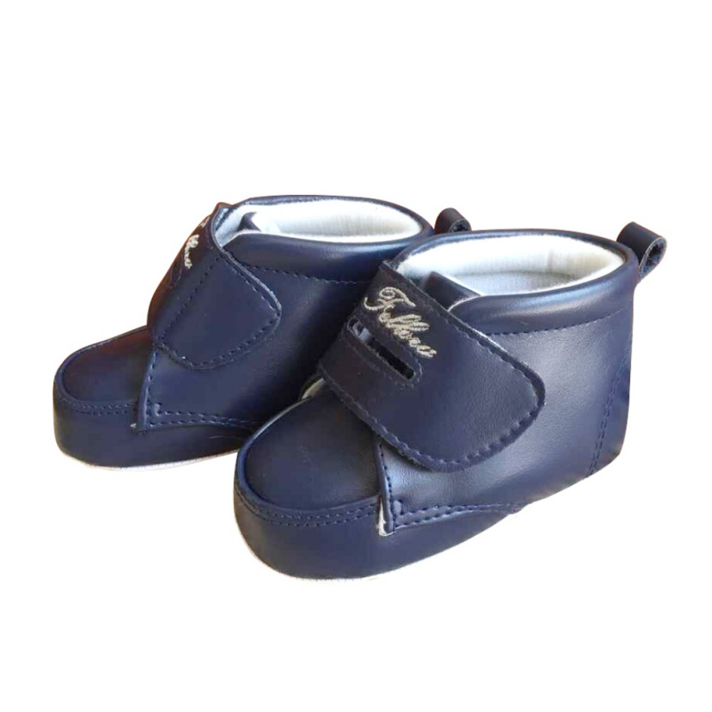 New Fashion Korean Version Of High-Top Baby Shoes Solid Color Boys And Girls Toddler Shoes M2