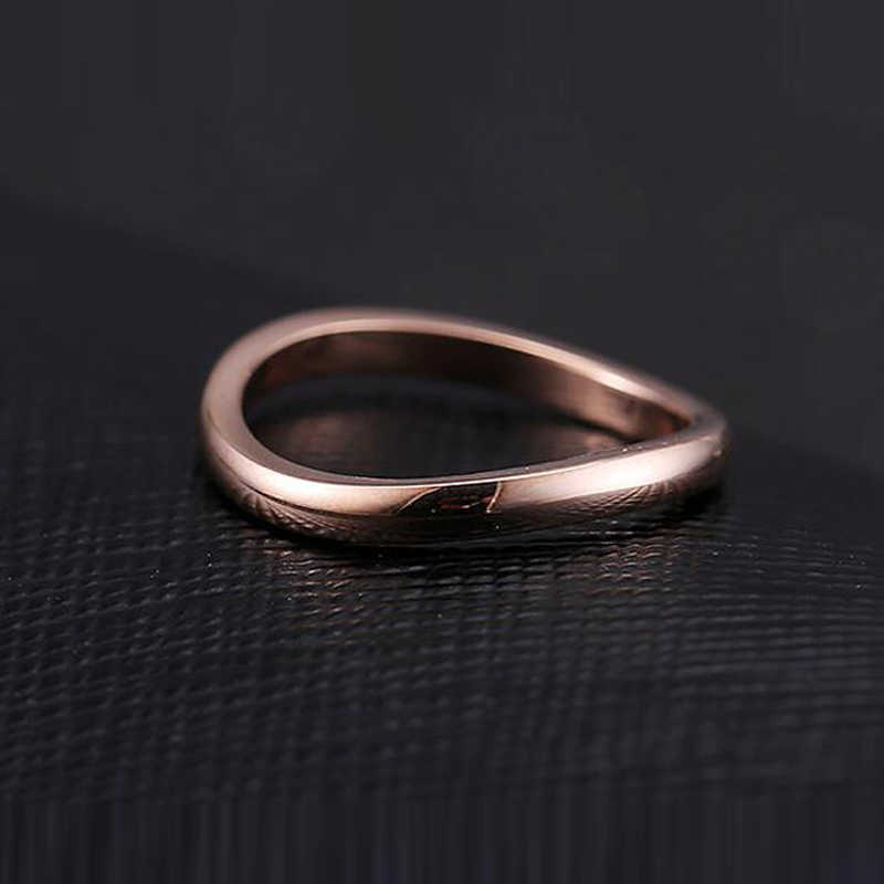 Fashion Jewelry Wholesale High Quality Love for Infinity Irregular Distortion Ring 316L Stainless Steel Woman Love Tail Ring