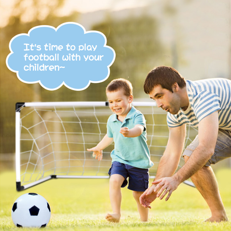 Portable folding soccer goal World cup football toys outdoor indoor sports fitness toys for kids parent-child interactive toys