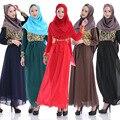Islámica Musulmana Vestido Largo Mujer Malasia Abayas En Dubai Turco Damas Ropa de Mujer Musulmana Vestidos de 6 Colores Disponibles