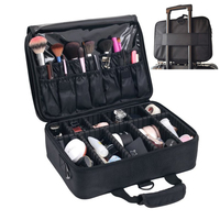 SAFEBET Professional Cosmetic Suitcase Divider Makeup Bag Cosmetics Storage Boxes Waterproof Beauty Case Travel Organizer