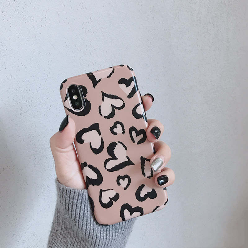 Lovely Heart Retro Leopard Case For iPhone - Photo 5