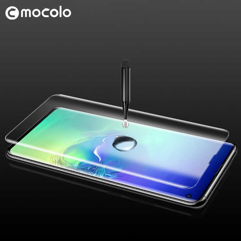 สำหรับSamsung S10 หน้าจอMocolo S20 หมายเหตุ 10 Liquidกาวโค้งUVกระจกนิรภัยสำหรับSamsung S20 Plus protector