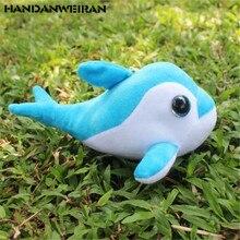 1PCS Mini Colored Dolphin Plush Toys Small Pendant Korean Cute Animals Stuffed Toy For Kids Activities Gift 18CM HANDANWEIRAN