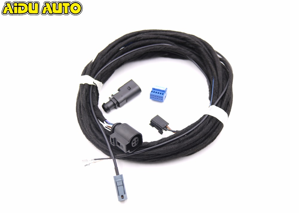 Rear View Camera Reversing Logo Camera Cable Wire Harness For VW Golf 7 MK7 VII цена