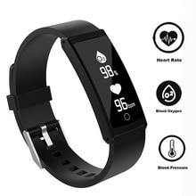 S6+ Smart Wristband IP68 Waterproof Sport Bracelet Blood Pressure Support SMS Facebook Twitter 0.96 Inch OLED Fitness Tracker