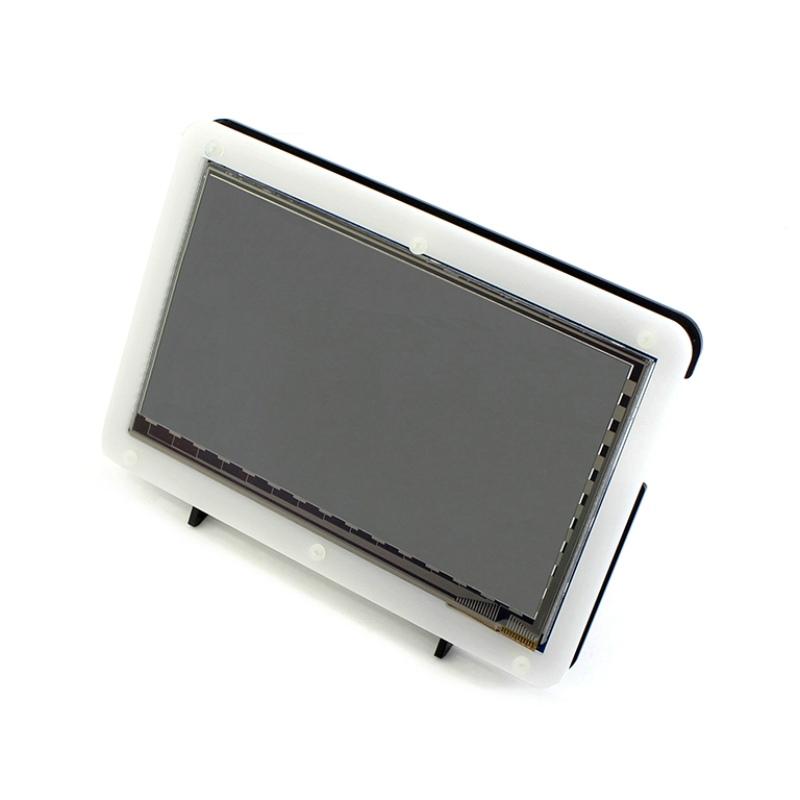 Prix pour Raspberry Pi 3 7 pouce HDMI LCD Affichage avec Acrylique Cas 1024*600 Écran Tactile Capacitif pour Raspberry Pi 2 BB Noir Banane Pi
