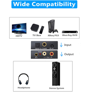 Image 5 - 3.5mm Jack 2RCA Coaxial Optical Fiber Digital To Analog Audio Converter Amplifier Decoder Digital Audio Decoder Adapter Protable