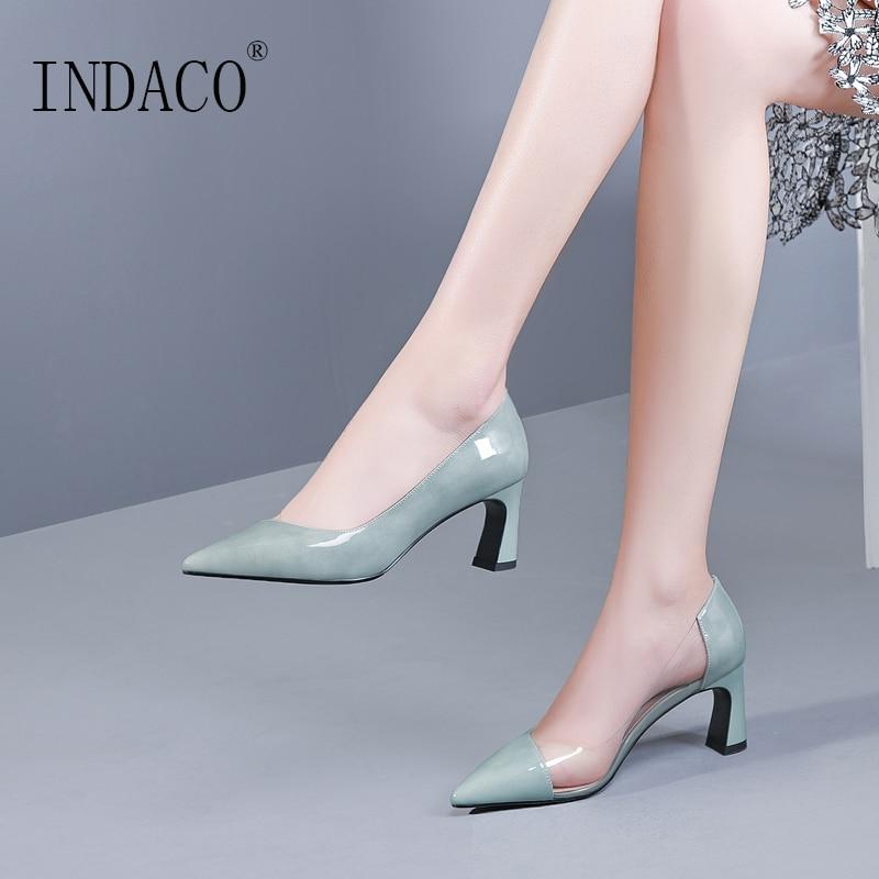Chaussures femme 2019 Transparent talons hauts pompes mode Sexy vert femmes chaussures talons