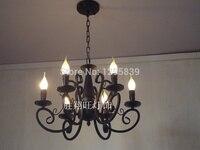 Wrought iron candle chandelier lamp Mediterranean restaurant American Pastoral special lighting lamps bedroom lamps ZX61