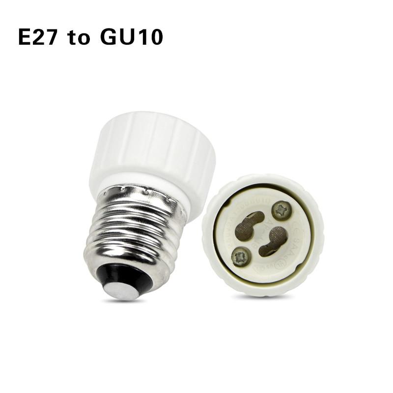Led основание лампы конверсионный держатель конвертер гнездо адаптер GU10 G9 B22 E27 E14 E12 огнеупорный материал для дома светильник и lightitng - Цвет: E27 to GU10