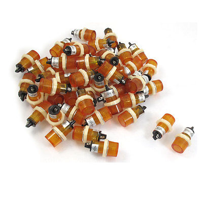 50 Pcs DC 24V 15mm Yellow Round Head Indicator Pilot Light Lamp XD15-3