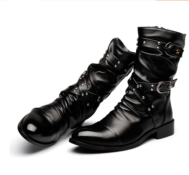 Fashion-men-spring-autumn-Motorcycle-Martin-Boots-British-Style-Gothic-Punk-Thick-Warm-Black-Shoes-Plus (2)