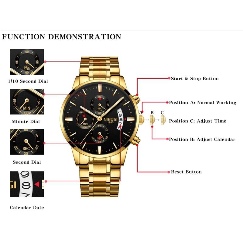 NIBOSI Mens Watches Top Brand Luxury Militray Sport Quartz Watch Men Waterproof Male Sport Clock Wristwatches Relogio Masculino 1