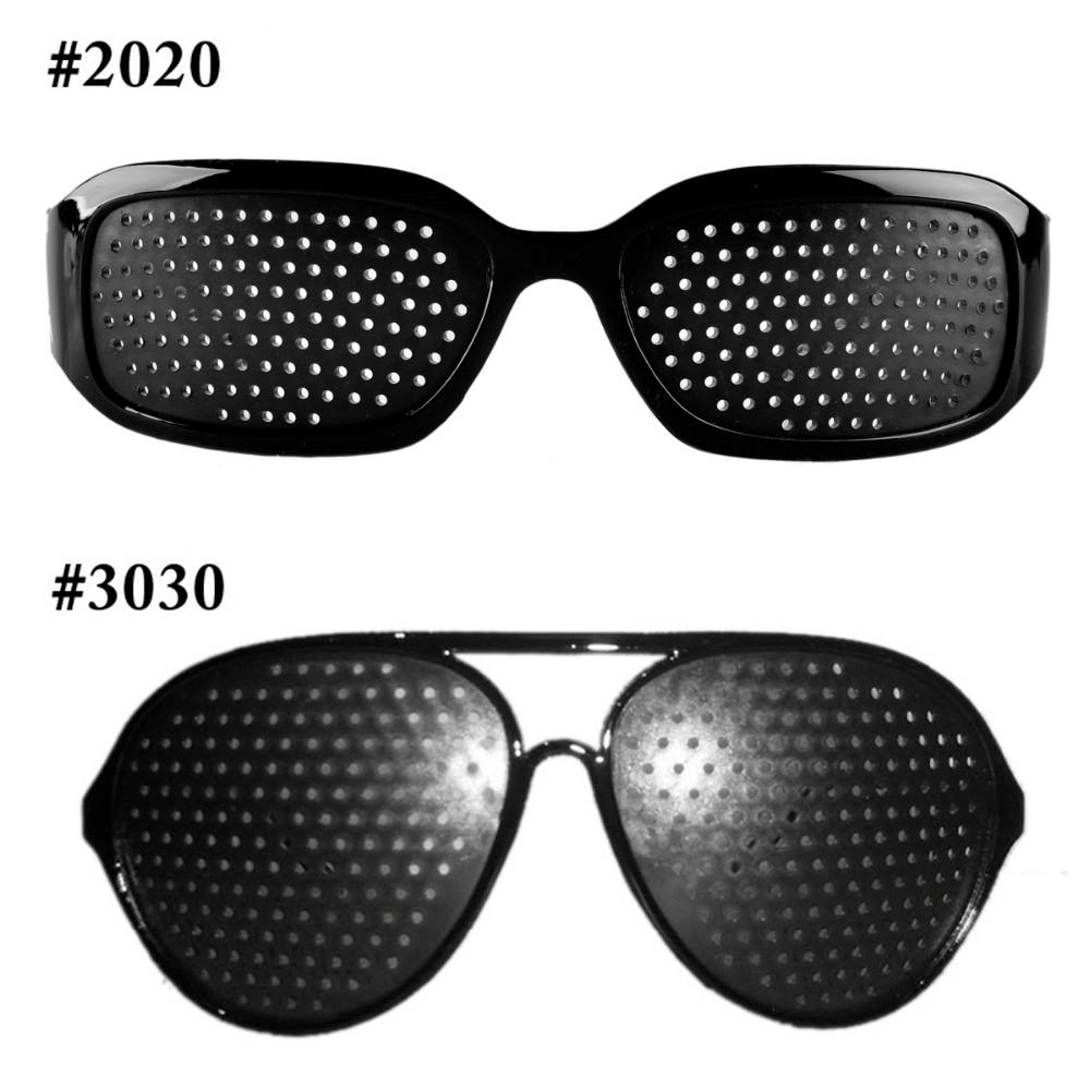 Hot Black Unisex Vision Care Pin Hole Eyeglasses Pinhole Glasses Eye Exercise Eyesight Improve Plastic Natural Healing Cheap