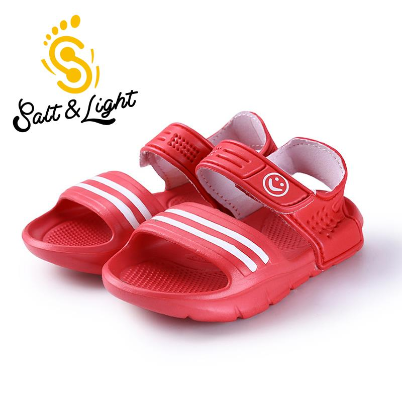 JUSTSL 9 colors boys girls beach sandals 2017 summer fashion casual non-slip resistant convenient shoes for kids