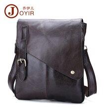2017 100% Genuine Leather Men's Shoulder Bag Casual Messenger Crossbody Pack Travel Small Money Belt Bag Men Small Bags B205